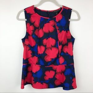 NWOT Banana Republic Sleeveless Peplum Floral Top